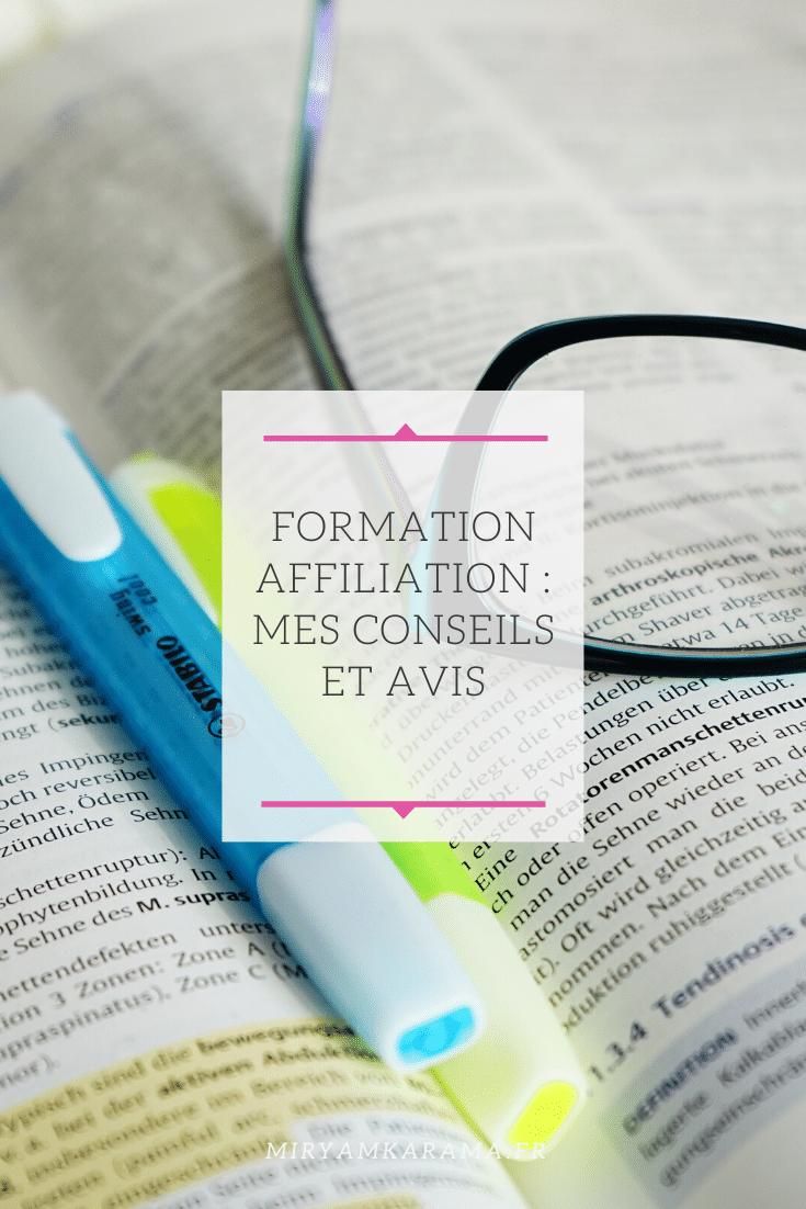 Formation affiliation   mes conseils et avis - Formation affiliation : mes conseils et avis