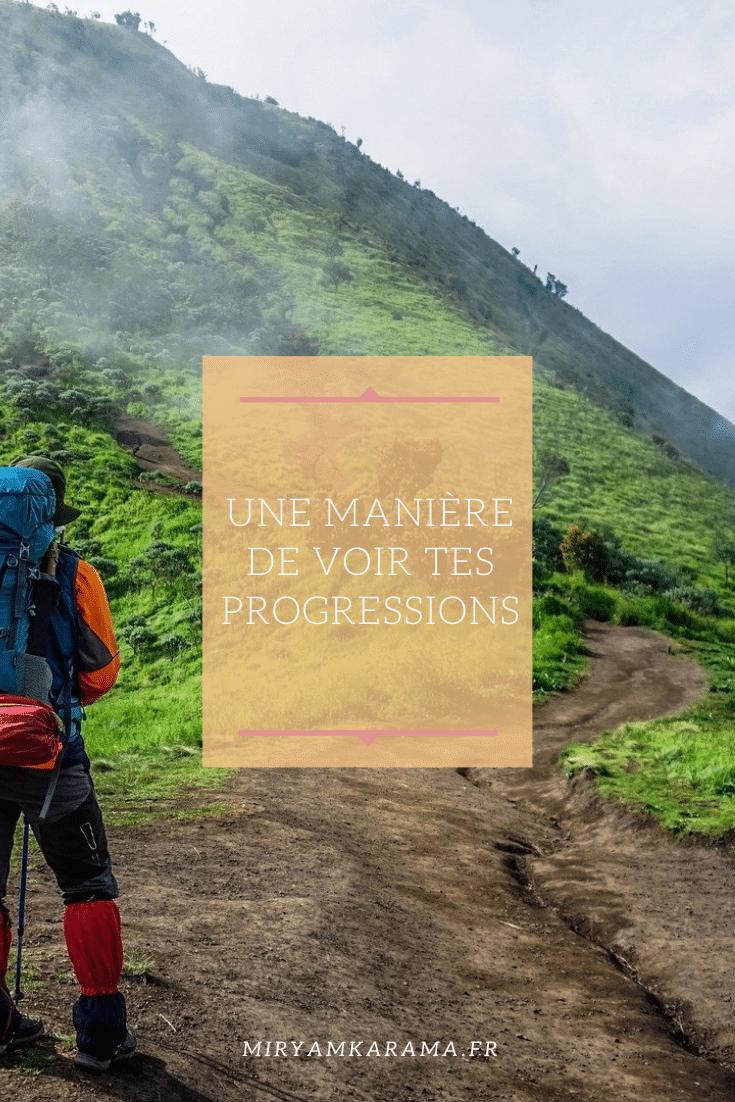 Une maniere de voir tes progressions - Une manière de voir tes progressions