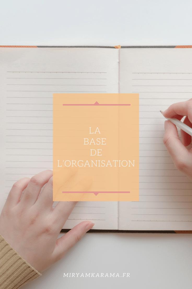 organisation la base - La base de l'organisation